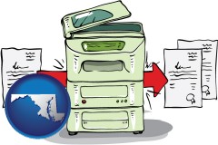 md map icon and a copier making copies